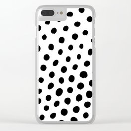 Black and White Dots Clear iPhone Case