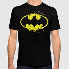 Bat man's Splash SMALL Black Mens Fitted Tee