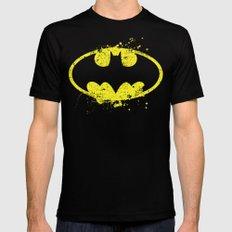 Bat man's Splash Black Mens Fitted Tee 2X-LARGE