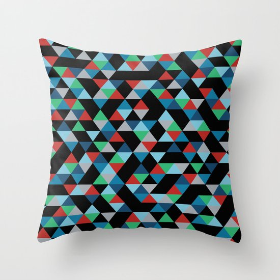 Triangles 4B Throw Pillow