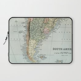 Vintage Map of the South of America Laptop Sleeve