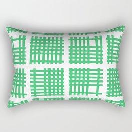 Mid Century Modern Abstract Squares Green 551 Rectangular Pillow