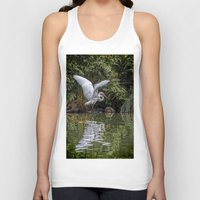 hunting Tank Tops featuring Egret Hunting by Chris Lord