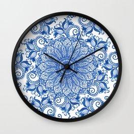 Mandala - Portuguese tile Wall Clock