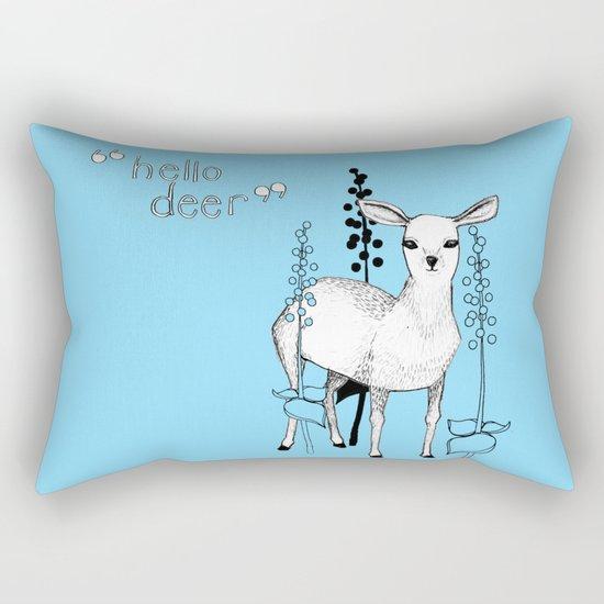 hello deer! Rectangular Pillow