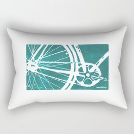 Teal Bike Rectangular Pillow