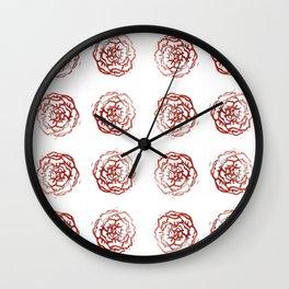 Rose stamp Wall Clock