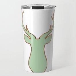 Stag Design Mint Travel Mug