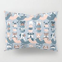 Knitting dog feelings I Pillow Sham