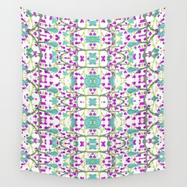 Colorful Modern Floral Pattern Wall Tapestry