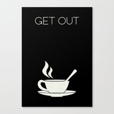 Get Out Minimalist Poster - Sink into the floor Canvas Print
