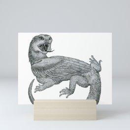 Aggressive Fantasy Creature Mini Art Print