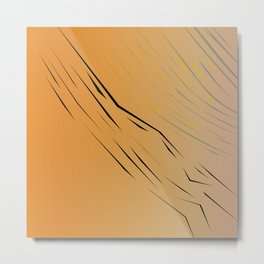 wild, design wood Gold Metal Print