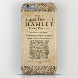 Shakespeare, Hamlet 1603 iPhone Case