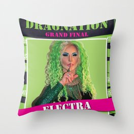 Dragnation Season 1 Electra Rigby's WA Throw Pillow
