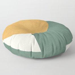 Halfmoon Colorblock 2 - Gold Green  Floor Pillow