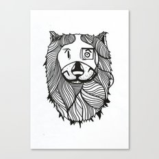 Lion 2 Sketch Canvas Print