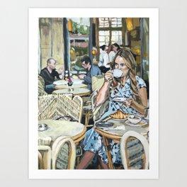 Cafe Life Art Print