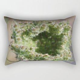 lace under glass Rectangular Pillow