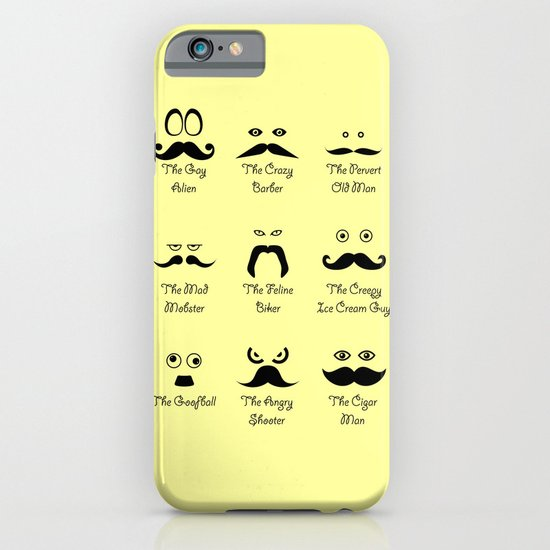 Eyes and Facial Hair iPhone & iPod Case