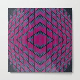 Geometric Descent Metal Print