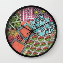 Clustered together Wall Clock