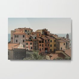 Traditional fishing village in Italy   Old colorful houses  Architecture  Travel photography Europe Metal Print