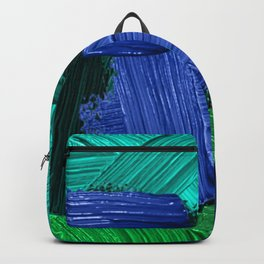 14 | Abstract Expressionism| 210210| Digital Abstract Art Textured Oil Painting Backpack