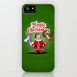 Magic Christmas with a unicorn iPhone Case