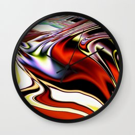 Extruded Colours Wall Clock