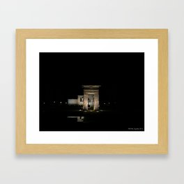 Templo de Debod  Framed Art Print