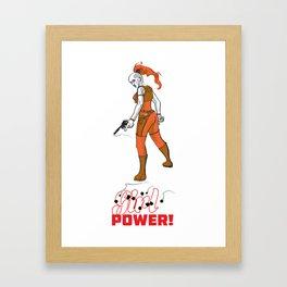 Just Power! Framed Art Print