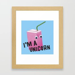 unicorn juice box Framed Art Print