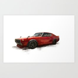 Nissan skyline 70, 1970 Art Print