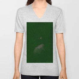 Green Grid Unisex V-Neck