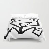 android Duvet Covers featuring PARANOID ANDROID by Ian Meth
