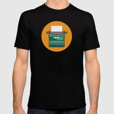 Typewriter Icon LARGE Black Mens Fitted Tee