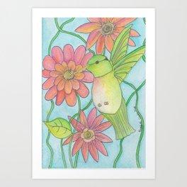 Memorial Garden Hummingbird Art Print