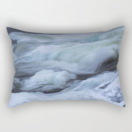 Storforsen, biggest Waterfall in the north of Sweden Rectangular Pillow