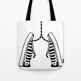 Lungs shoes ribs icon skeleton gift Tote Bag