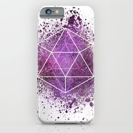 d20 Icosahedron Crystal Wind iPhone Case