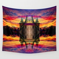 rocket Wall Tapestries featuring Castle rocket by haroulita