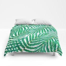 Green Tropical Ferns Comforters