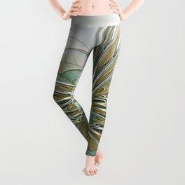Floral Fantasy, Abstract Fractal Art Leggings
