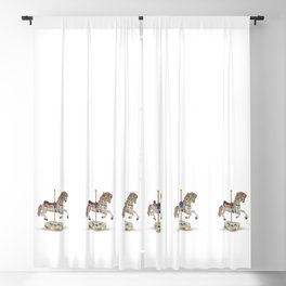 carousel horse Blackout Curtain