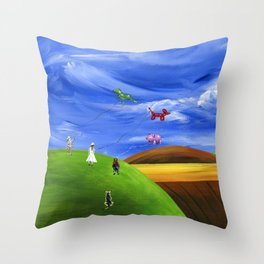 Hilly Helium Throw Pillow