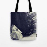sunrise Tote Bags featuring sunrise by PandaGunda