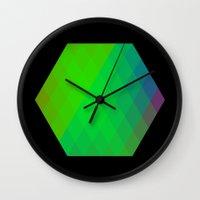hexagon Wall Clocks featuring Hexagon? by FMC!