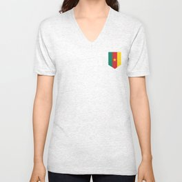 Cameroon - Badge Unisex V-Neck