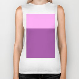 Color Block - Pink and Purple Biker Tank
